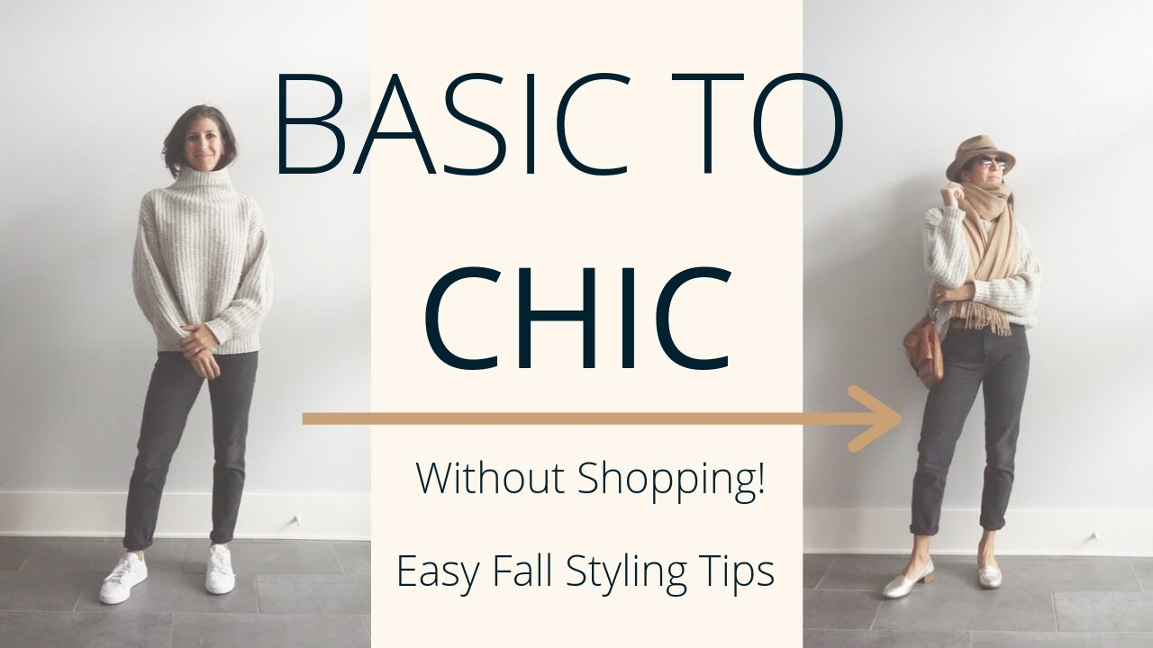 [VIDEO] - Easy Ways to Make Fall Basics Look Chic | Fall Outfit Building Ideas | Slow Fashion 8