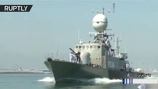 vuclip Iran unveils new home-made warship equipped with surface-to-surface missiles