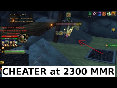 CHEATER on 3s arena 2300 mmr!!! Fly hack [WoD 6.2.2]