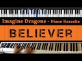 Imagine dragons believer piano karaoke sing along cover with lyrics mp3