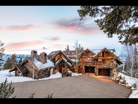 Incomparable $10 Million 9,000 SQ FT 6 Bed 8 Bath Stone Lodge in Park City Utah USA
