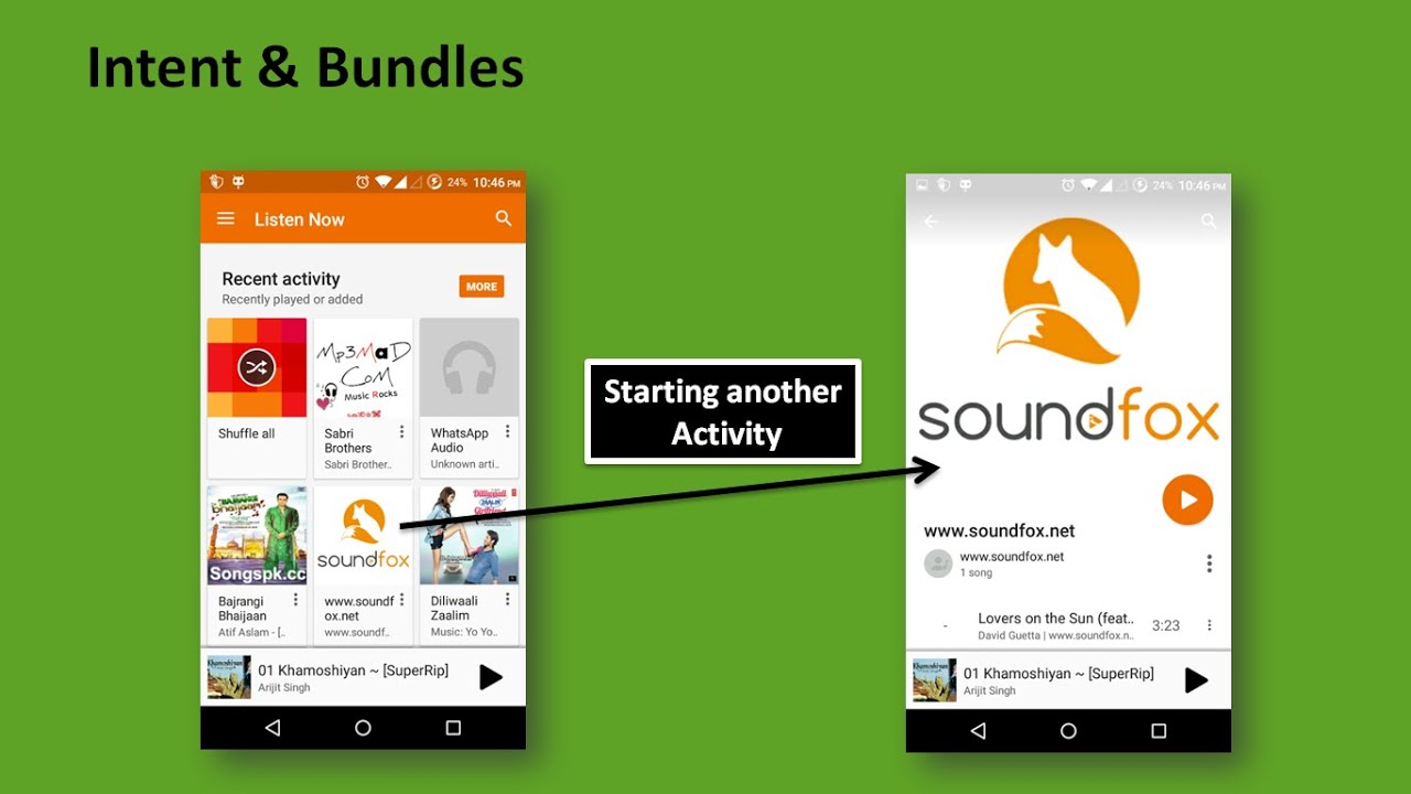 22 - Intent and Bundles - Android Studio