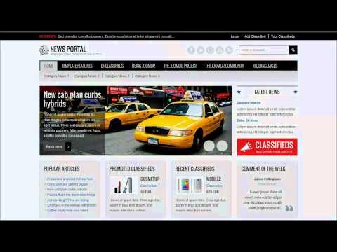 Joomla 3.x / 2.5 Template: JM News Portal, Responsive Template