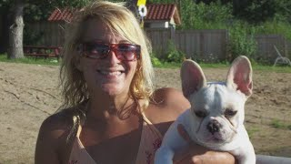 Suburban woman mauled to death by her French bulldog