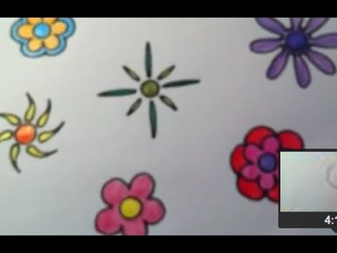 Dibujar flores Funky Muy fcil  YouTube
