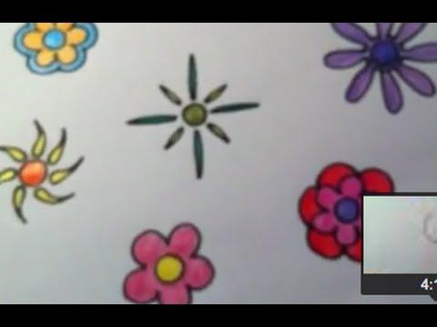 Dibujar Flores Funky Muy Fácil Youtube