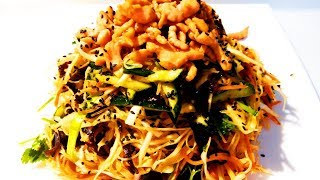 Китайская кухня.  Китайский салат Харбин