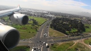 Amazing Business Class HD A340-600 Landing in Cape Town South Africa!!!