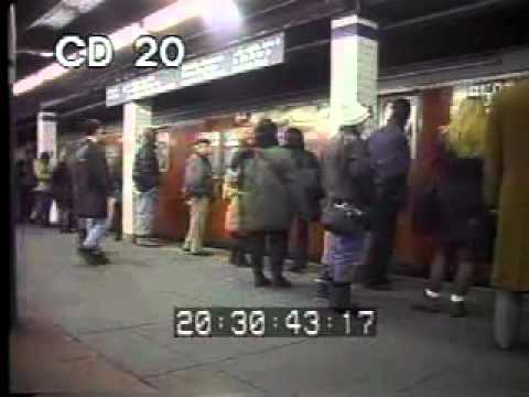 1990s NYC train commuters - color archival stock footage ...