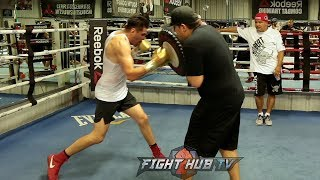JOSE RAMIREZ SHOWS OFF MASSIVE HOOKS & POWERFUL UPPERCUTS IN TRAINING CAMP!