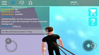 Playing Adonis admin house in roblox And the game got crashed