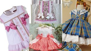 Beautiful attractive baby frock stylish design comfortable baby frock