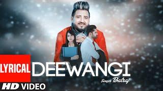 Latest Punjabi Song | Deewangi (Full Lyrical Song) Balraj | G Guri | Jassa Natt | New Punjabi Song