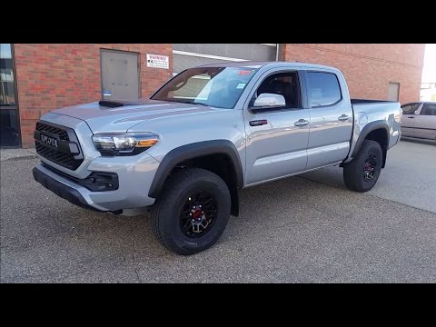 2017 Toyota Tacoma Double Cab TRD Pro in Cement grey Detailed Features and Review with Exhaust sound