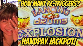HANDPAY JACKPOT! HOW MANY RETRIGGERS DID IT TAKE?