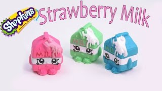 Shopkins Custom Spilt Strawberry Milk Diy Inspired Painted Craft Season 1  Kawaii Toy Cookieswirlc