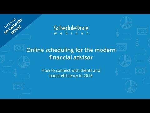 WEBINAR: Online scheduling for the modern financial advisor