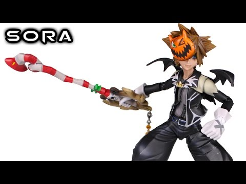 Play Arts Kai SORA: Halloween Town Kingdom Hearts II Action Figure ...