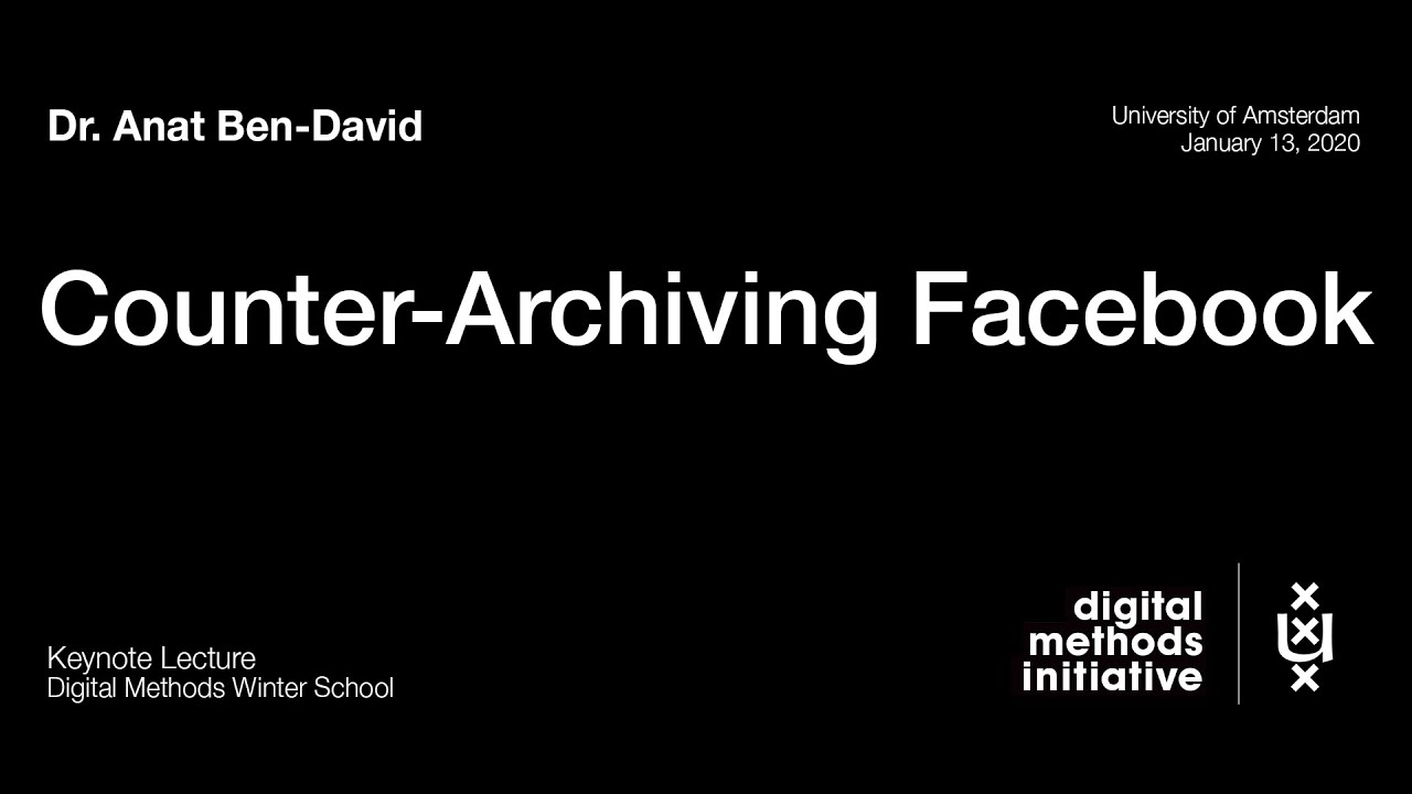 Counter-Archiving Facebook