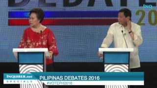 Pilipinas Debates 2016: Santiago says she waited for death to come but...