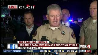 Press conference: Mass shooting at California bar