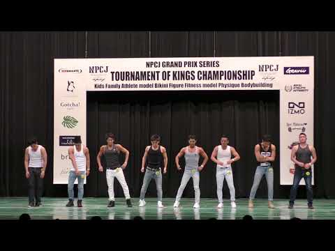 NPCJ TOURNAMENT OF KINGS CHAMPIONSHIP 2018 men's fitness model (in Osaka)