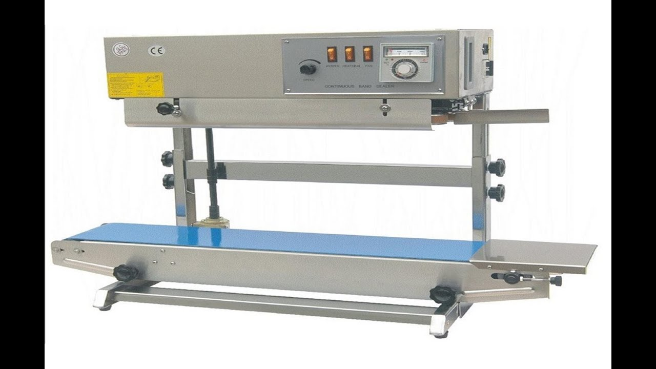 testing video operation vertical band sealing machine plastic continuous  sealer for Mexico customers