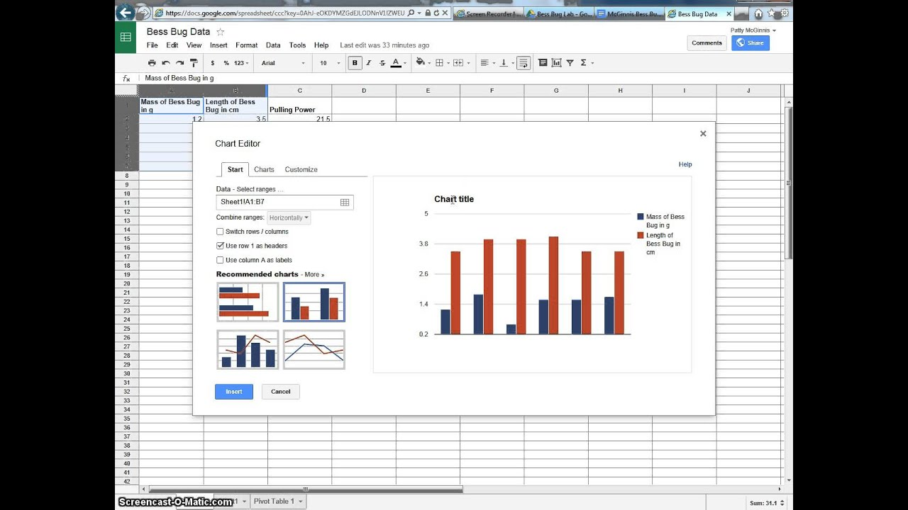 How to insert a google chart into a google doc youtube how to insert a google chart into a google doc ccuart Image collections