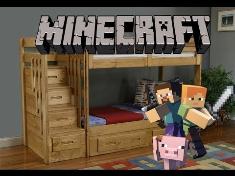 Como hacer una litera o doble cama en minecraft ANDDY YouTube