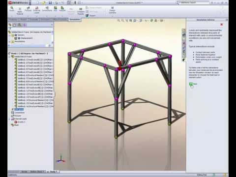 Design a Better Frame with SolidWorks Simulation - YouTube