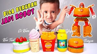 Mainan Es Krim dan Burger Shop Bisa berubah Jadi Robot Lucu | Mainan Anak Es Krim-Es Kriman Kue Tart