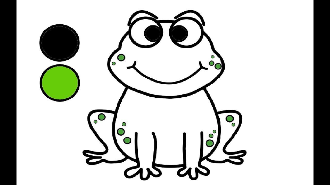 Wie Zeichnet Man Frosch Zeichnen Und Malen Fur Kinder Youtube