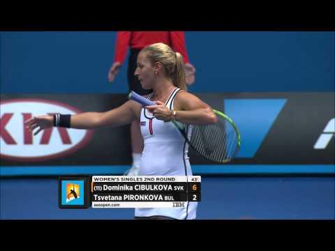 Dominika Cibulkova v Tsvetana Pironkova highlights (2R) - Australian Open 2015