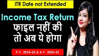 Income tax Return Date not Extended For 2020-21 what to do? ITR late fee|ITR late filing