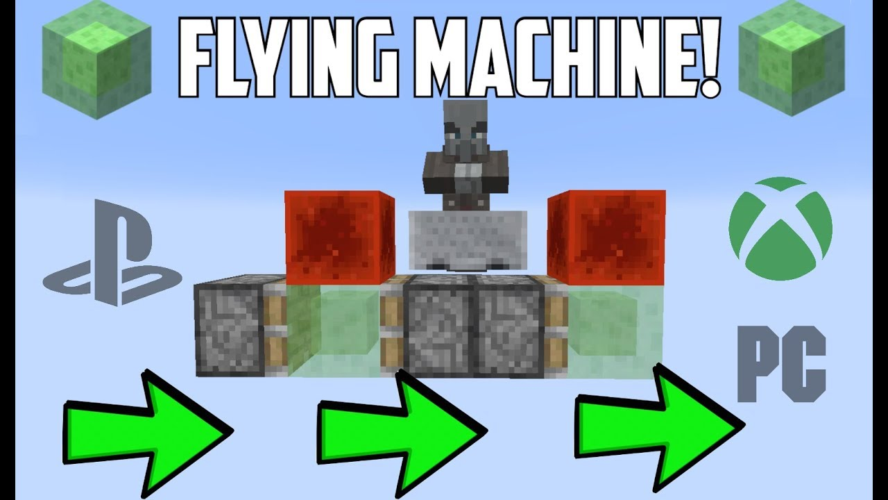 how to build a flying machine in minecraft