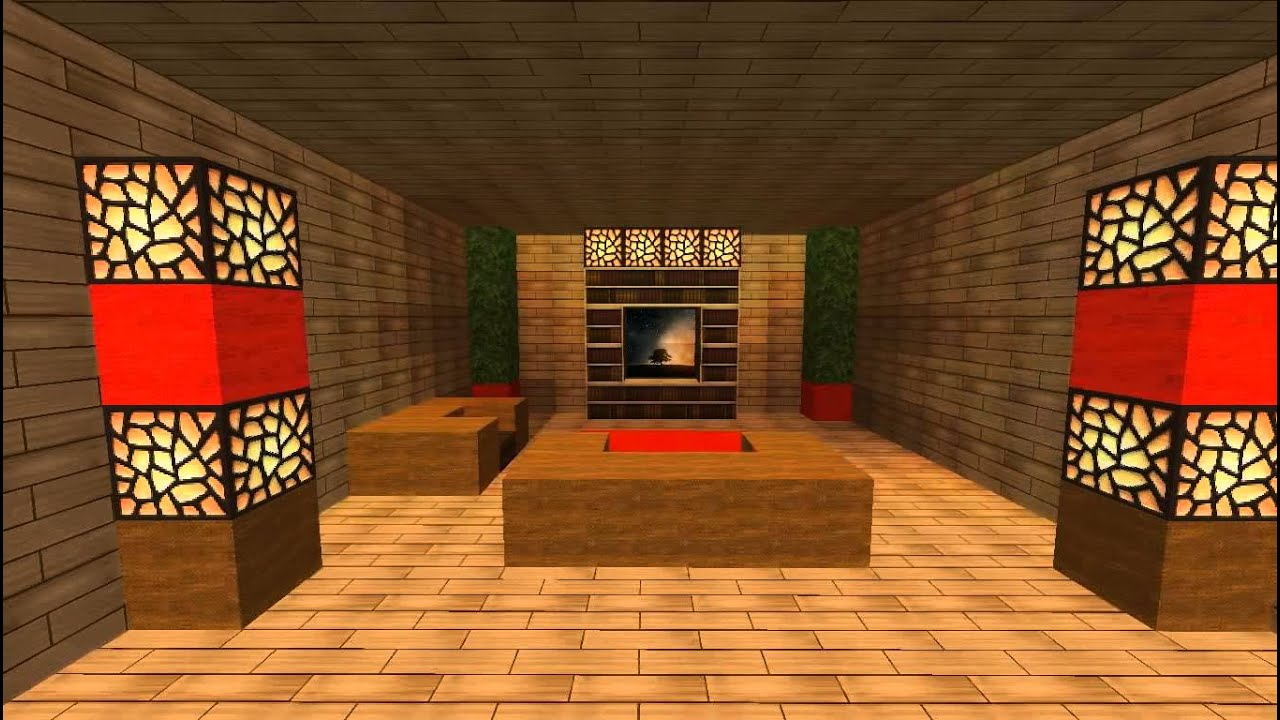 Minecraft Modern Living Room Design - YouTube