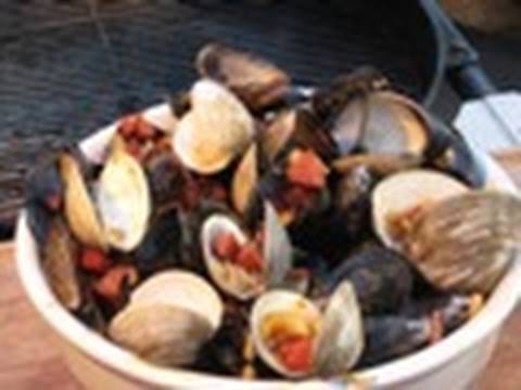 Pepperoni Clams and Mussels Seafood Recipe by the BBQ Pit Boys