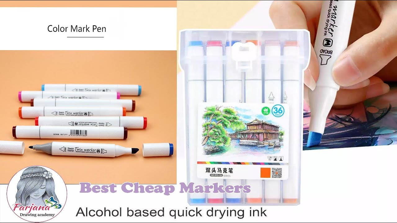 Best Cheap Markers - Alcohol based quick drying ink ||  MEKEELO  - Twin Markers Review #shorts