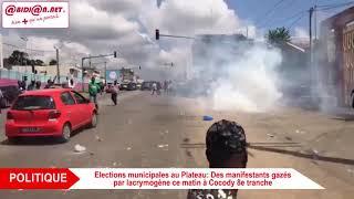 Elections municipales au Plateau: Des manifestants gazés par lacrymogène ce matin à Cocody