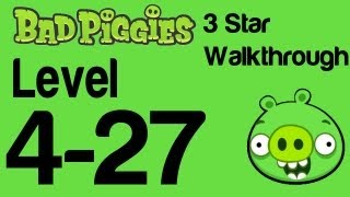 Bad Piggies 4-27 Flight in the Night Level 4-27 3 Star Walkthrough | WikiGameGuides