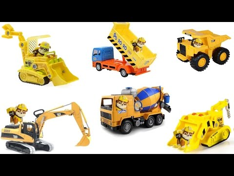 Thumbnail: Best Learning Colors Video for Children with Paw Patrol and Construction Vehicles Bulldozers