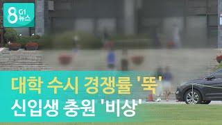 [G1뉴스]대학 수시 경쟁률 '뚝', 신…