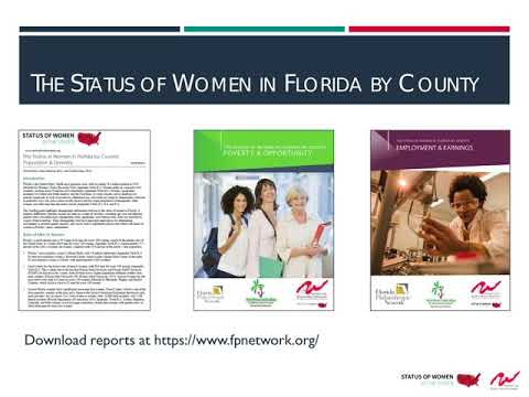 The Status of Women in Florida by County  Employment & Earnings
