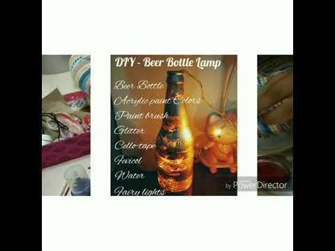 Diy Beer Bottle Turn Into Beautiful Light Lamp And Flower Vase