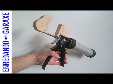 How to make a one handed quick action bar clamp.
