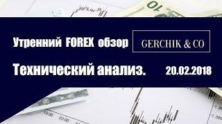 💰Технический анализ основных валют 20.02.2018 | Утренний обзор Форекс с GERCHIK & CO.