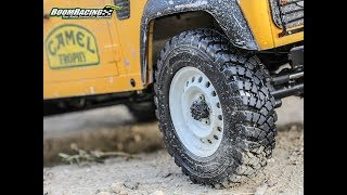 "Introducing the Boom Racing 1.9"" Mud Terrain Trophy T29A Narrow Tires"