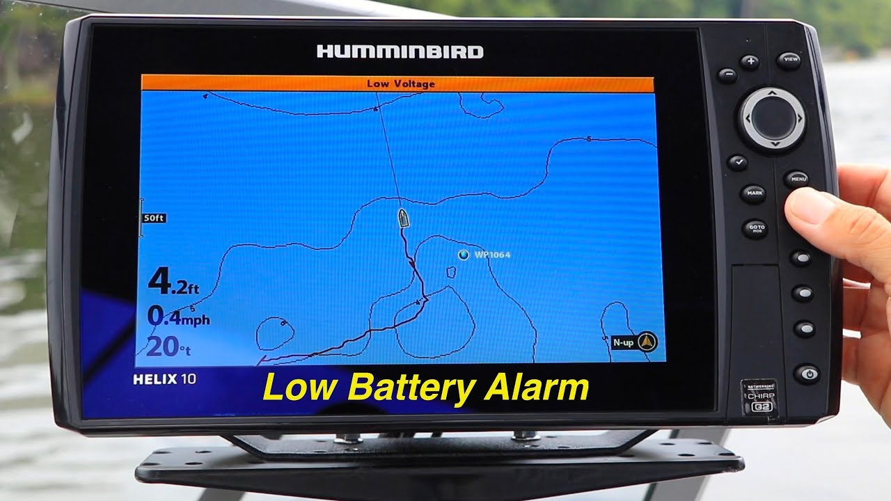 Humminbird HELIX | Low Battery Alarm | The Technological Angler