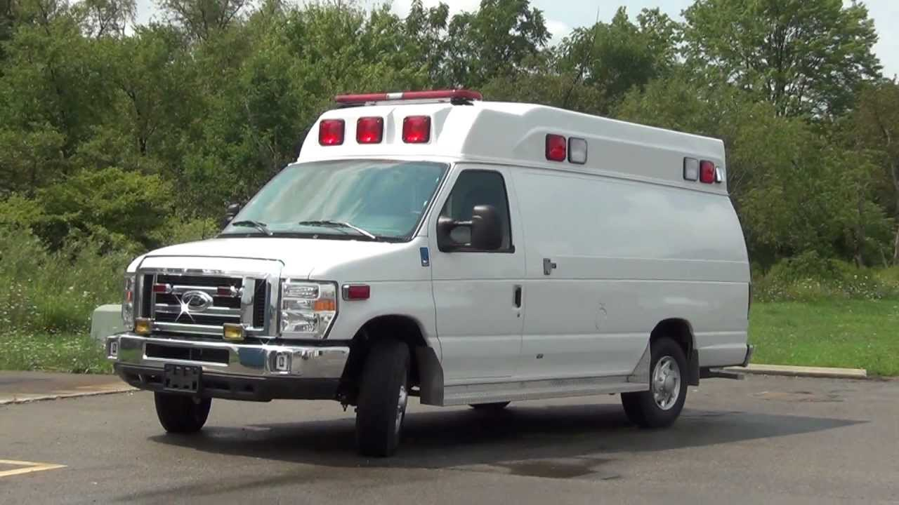 BRAND NEW 2013 FORD AMBULANCE BEING DELIVERED TO NEW OWNER - YouTube