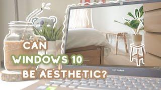 MAKE WINDOWS 10 HOME SCREEN AESTHETIC 🍞 how I use widgets to decorate my home screen   Indonesia screenshot 5